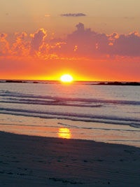 Famous Cable beach sunset, Broome. WA