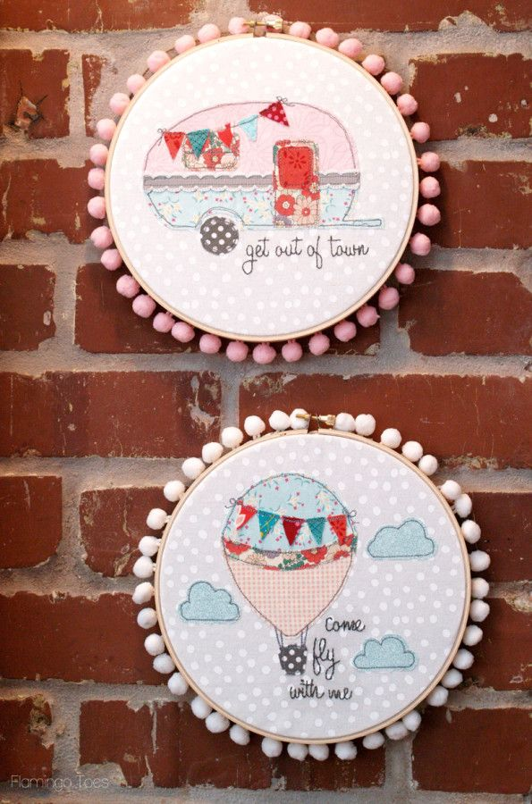 Summer Travel Hoops with Patterns