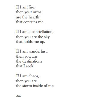 fire, stars, and wanderlust...Now that's a love quote