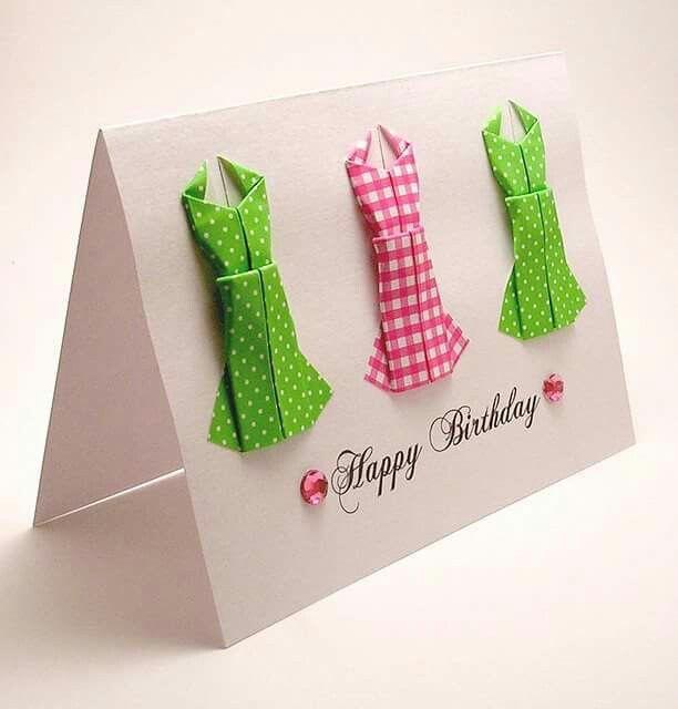 pinrebecca freeman on cards  origami birthday card
