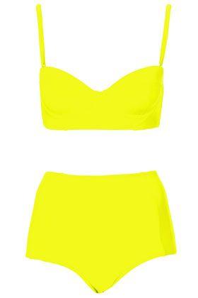 lime longline bikini