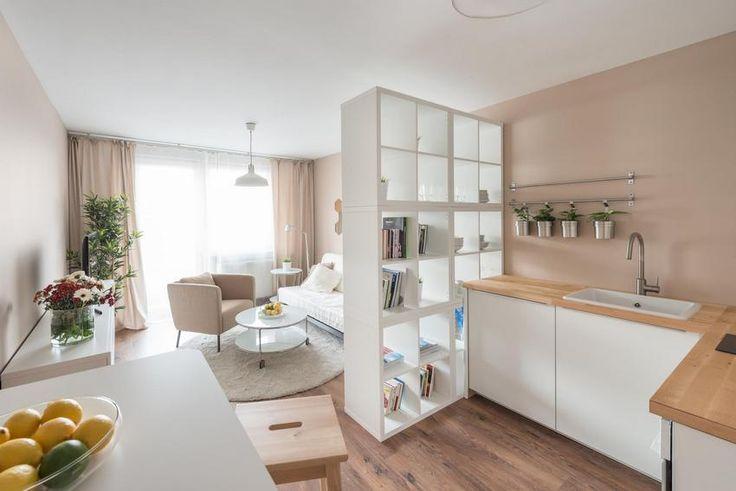 Panellakás felújítás - 28m2-es kis lakótelepi lakás berendezése Ikea bútorokkal, alacsony költségvetéssel RU.LES Architects | fotók: Peter Čintalan