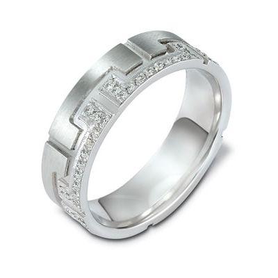 White Gold & Diamond Mens Wedder 2103, Temelli Jewellery