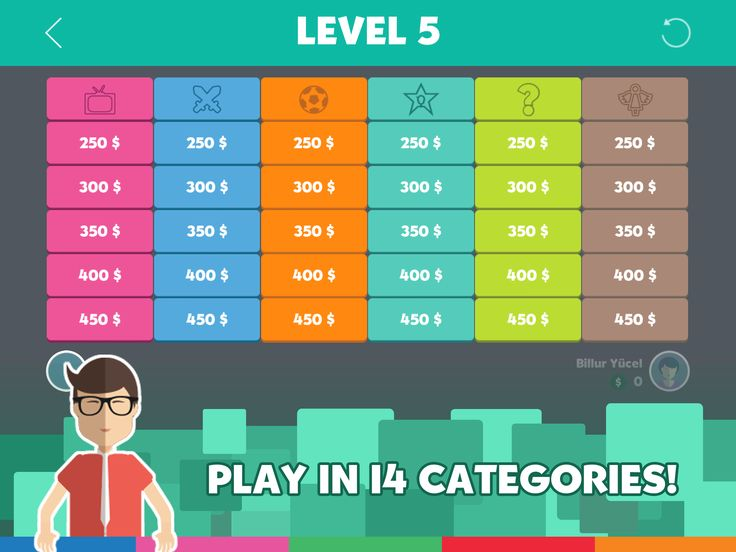Play in 14 categories