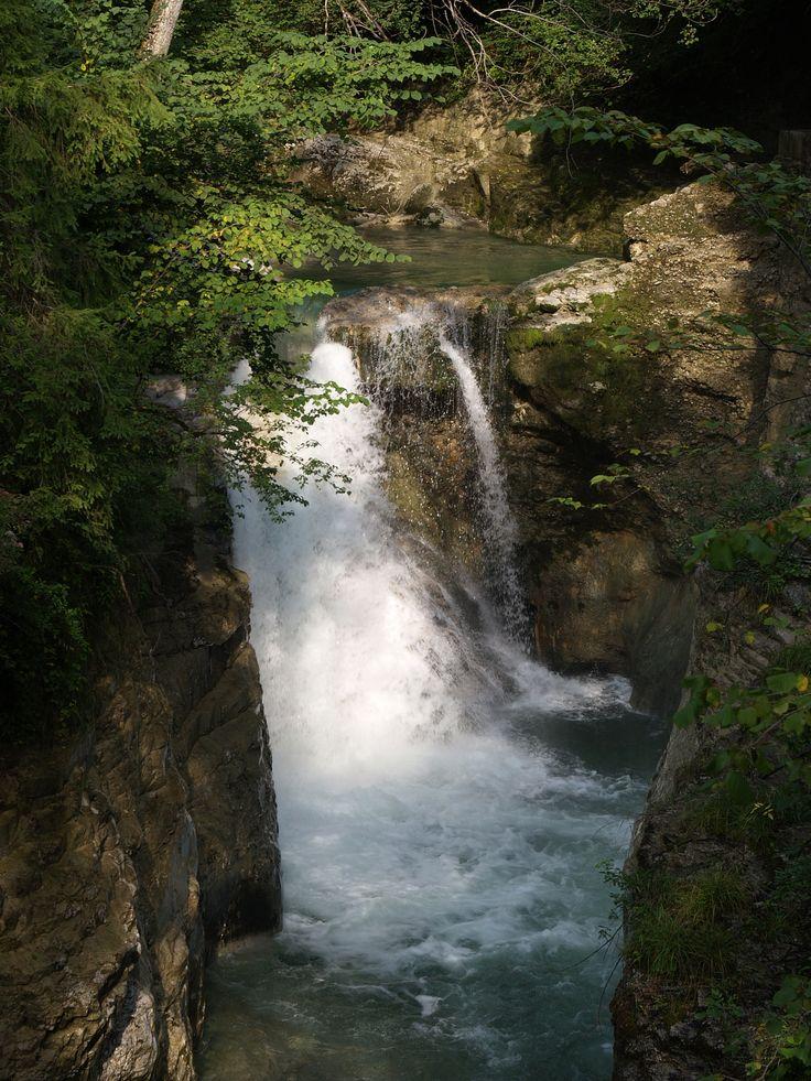 Wasserfall bei der Römerbrücke in Bad Vigaun