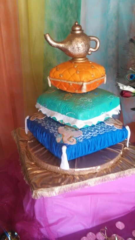 Gorgeous moroccan cake tiered pillow cake 3 tier arabian for Arabian cake decoration