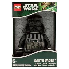 LEGO®  Star Wars Darth Vader Kids Moveable Minifigure Alarm Clock - Black