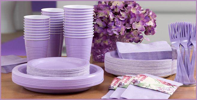 Lavender Tableware - Lavender Party Supplies - Party City