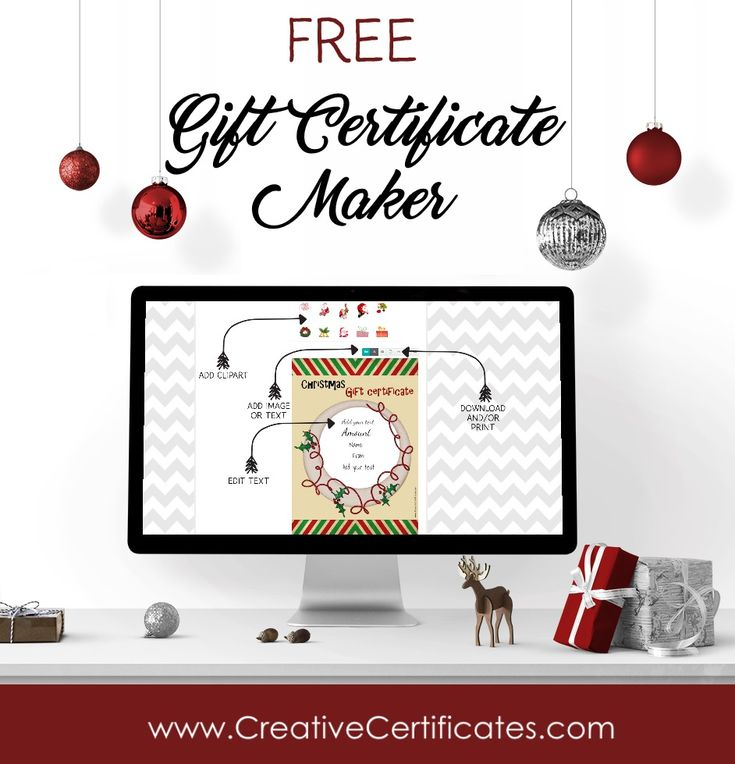 Best 25+ Gift certificate maker ideas on Pinterest Certificate - free christmas voucher template