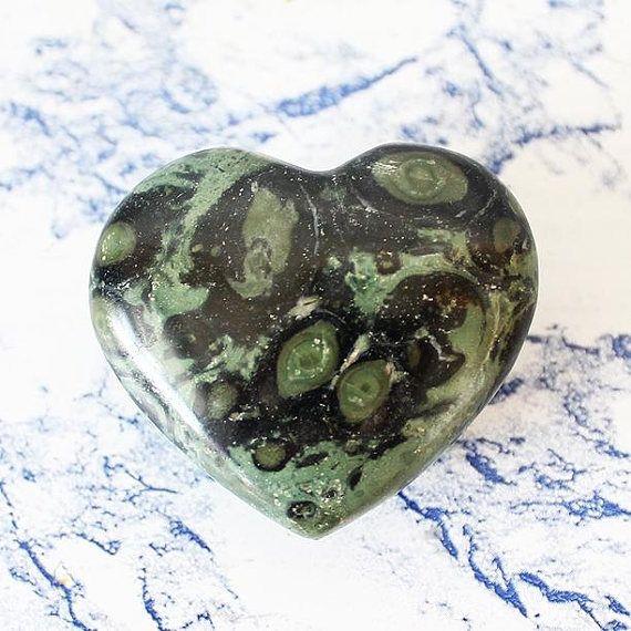 Kambaba Jasper Crystal Heart Carved Crystal Kambaba Jasper