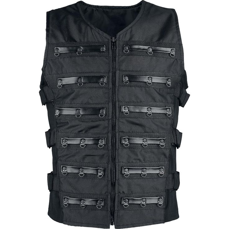 Black Warrior Weste - Vest etter Gothicana by EMP