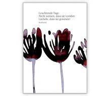 Trauerkarte Schmetterling: Man lebt zweimal