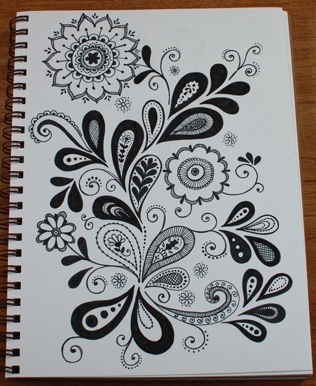Nice paisley/flower doodle Make money pinning! JOIN MY TEAM! Start here: http://www.earnyouronlineincomefast.com