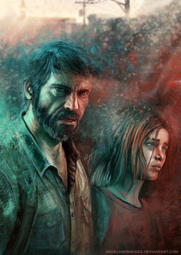 Joel and Ellie by AngelaBermudez.deviantart.com on @deviantART