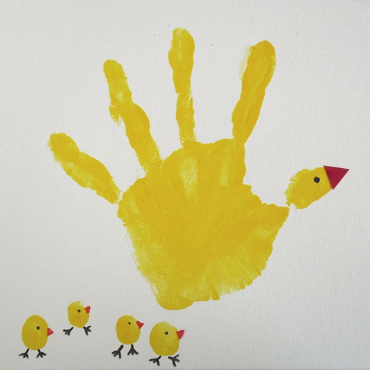 easter craft with child's handprint and finger prints {so cute!}