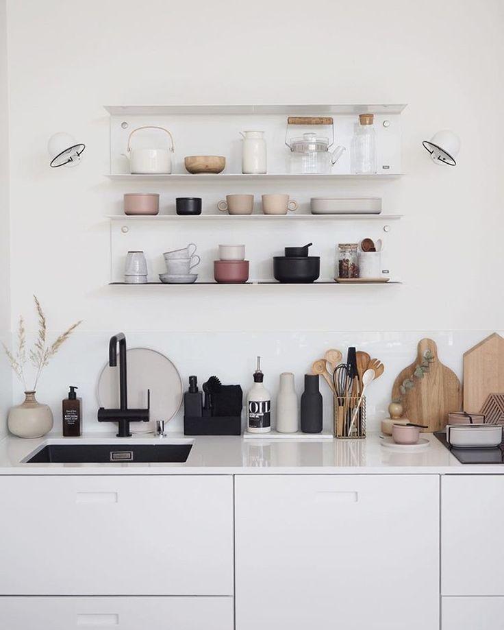 Finnish kitchen shelves