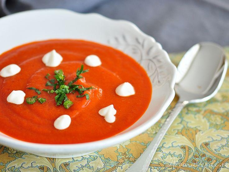Supă cremă de ardei copți