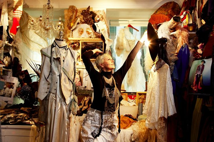 Daniela Kamiliotis (set and costume designer, fine artist, and vice president of womens collection Ralph Lauren)  at her office in NYC. Photo by The Selby.