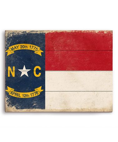 Another great find on #zulily! North Carolina State Flag Wall Art #zulilyfinds