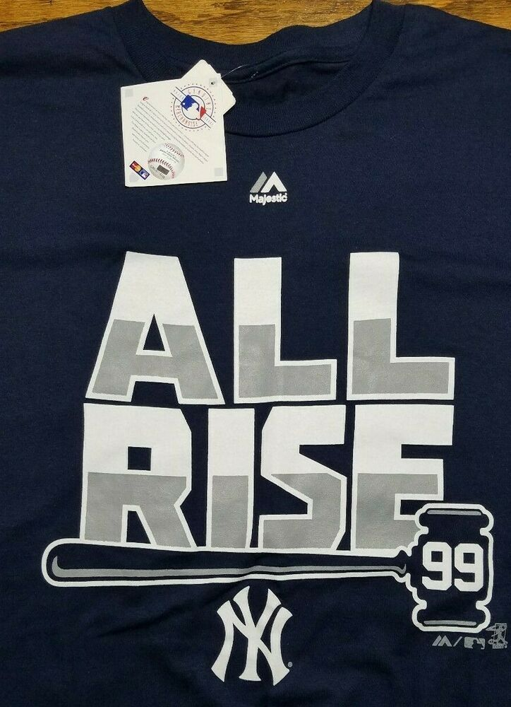 big sale 26d63 fb528 New York Yankees MLB shirt All Rise Aaron Judge 99 Adult XL ...