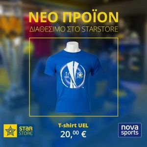 2015-16 Asteras Tripolis FC UEFA Europa League T-Shirt (Blue)
