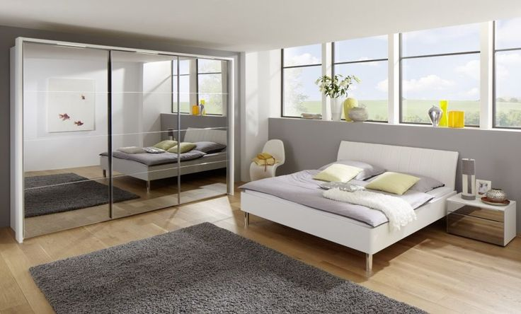 Nolte Marcato Style 5c Glass Doors Hinged Wardrobe with 4 Panel Effect