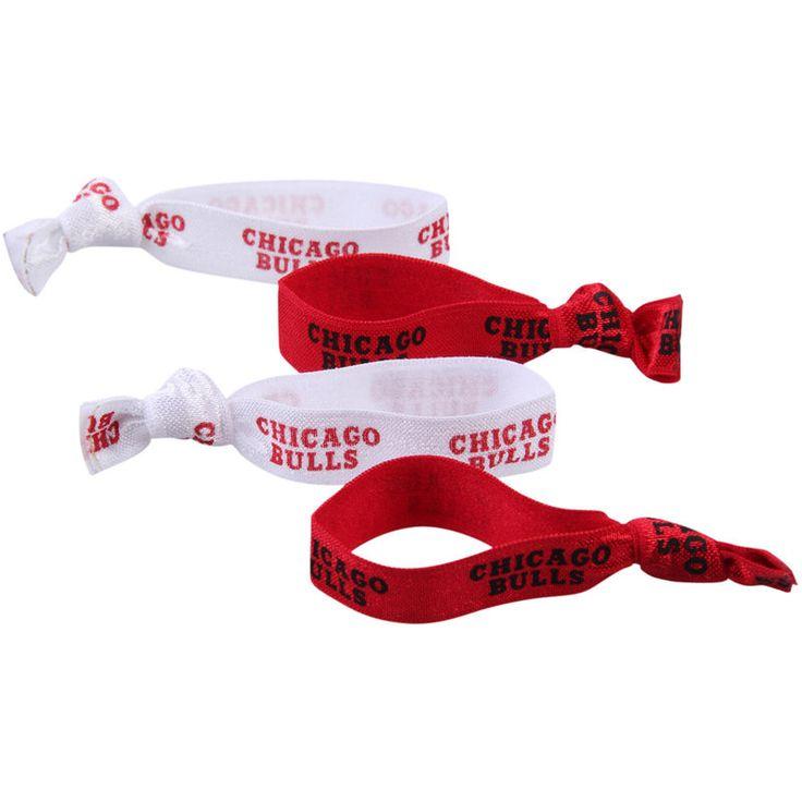 Chicago Bulls 4-Pack Elastic Hair Ties