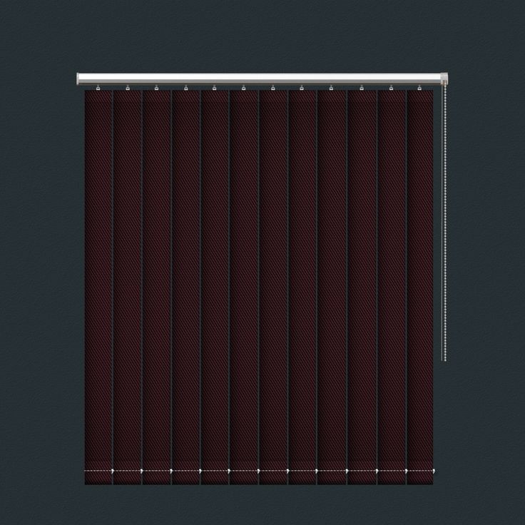 Red and Black Lined Fibreglass Mix Sunscreen Vertical Blind