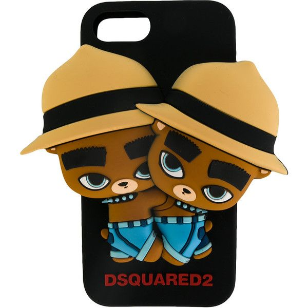 Dsquared2 twin bear iphone case ($99) ❤ liked on Polyvore featuring men's fashion, men's accessories, men's tech accessories and black