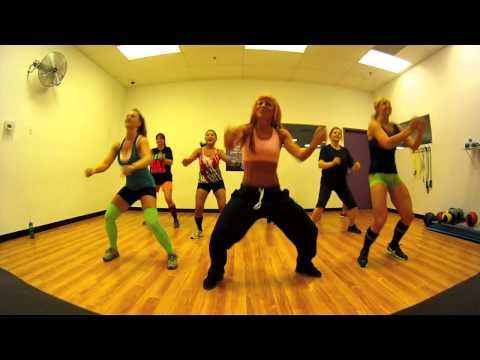 Booty Wurk - T-Pain Zumba with Mallory HotMess - YouTube. She has a good number of Zumba videos with the similar camera effect. She is great to workout to. I love when she Rock's... very diverse. A favourite of mine.
