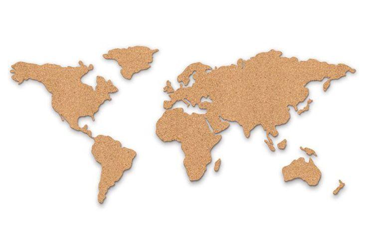 Mapa de corcho silueteado, www.regalador.com