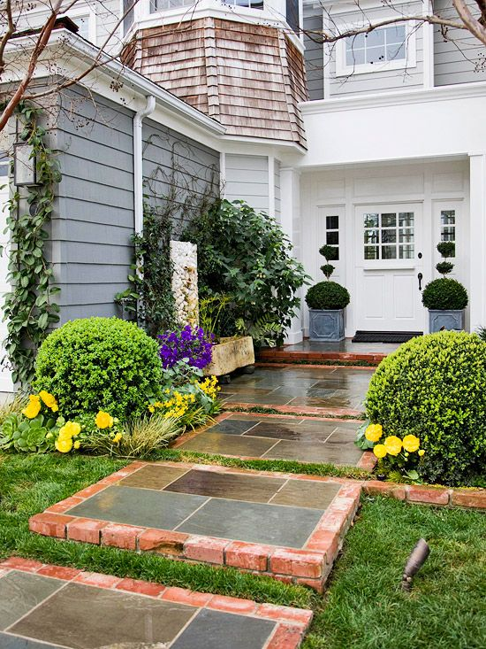 Curb appeal on a dime walkways fresh and stones for Curb appeal garden designs