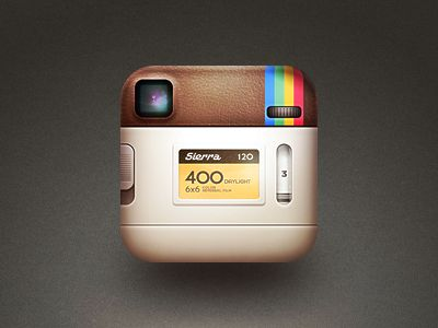 the back of the instagram icon. (personal project) | Designer: Cole Rise