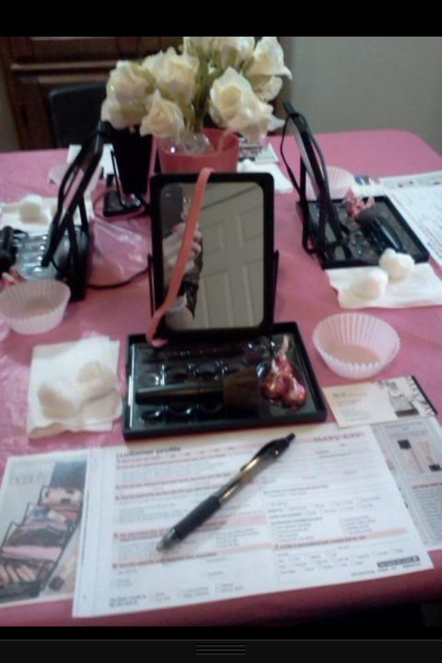 Table setup posted by NSD Linda Toupin ~ https://www.MARYKAY.COM/airenw7 ~ Contact me today ~