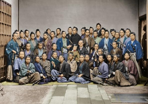 Samurai students of Dutch national, American missionary and teacher, Guido H. F. Verbeck (1830-1898) who started a school in Nagasaki (1864) and educated one of the most illustrious groups of future leaders of modern Japan who ever studied under one teacher, eventually there were more than one hundred students at the school. Verbeck's pupils included Ōkuma Shigenobu, Itō Hirobumi, Ōkubo Toshimichi, Sagara Tomoyasu (Chian), and Soejima Taneomi.
