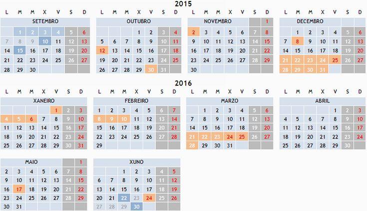 Calendario escolar 2015/2016 | Consellería de Cultura, Educación e Ordenación Universitaria