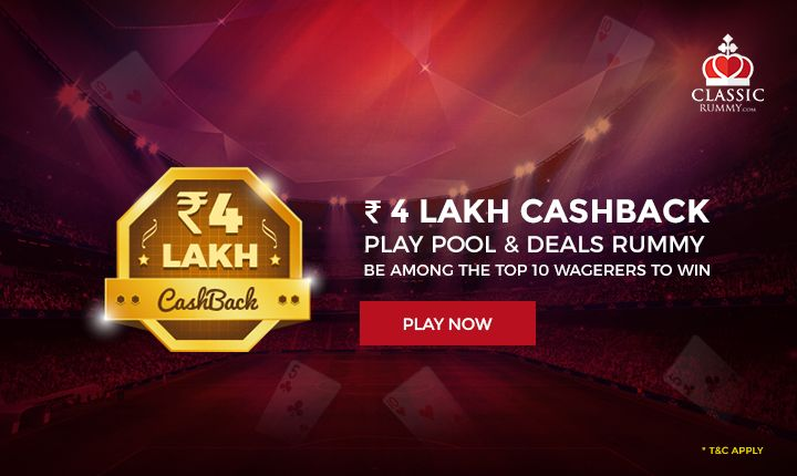 ₹ 4 Lakh CASHBACK, Play Pool & Deals Rummy & Be among the Top 10 Wagerers to Win.  #rummy #online #card #games #mobile