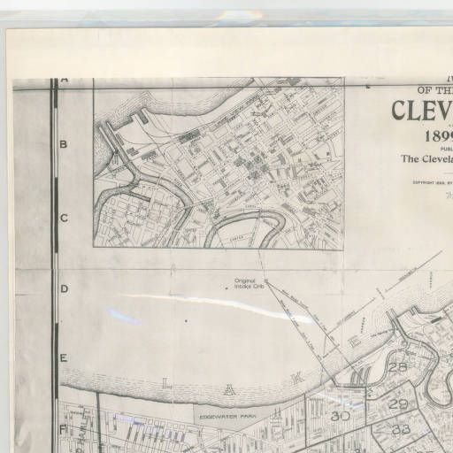 Map of the city of Cleveland for 1899-1900 :: Atlases, Maps and Park Plans of Cleveland and Cuyahoga County