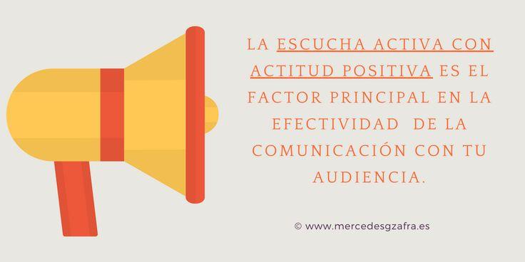 La ESCUCHA ACTIVA con ACTITUD POSITIVA es fundamental para la efectividad de la comunicación con la audiencia. Incluso cuando sean quejas o comentarios negativos. De lo malo también se aprende....  #marketing #estrategia #frasesdemarketing #frases #MarketingDigital