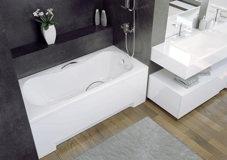 ARIA to wanna o wyjątkowym kształcie, który z pewnością zadowoli nawet najbardziej wymagających amatorów kąpieli. Polecamy w połączeniu z dedykowanymi uchwytami!