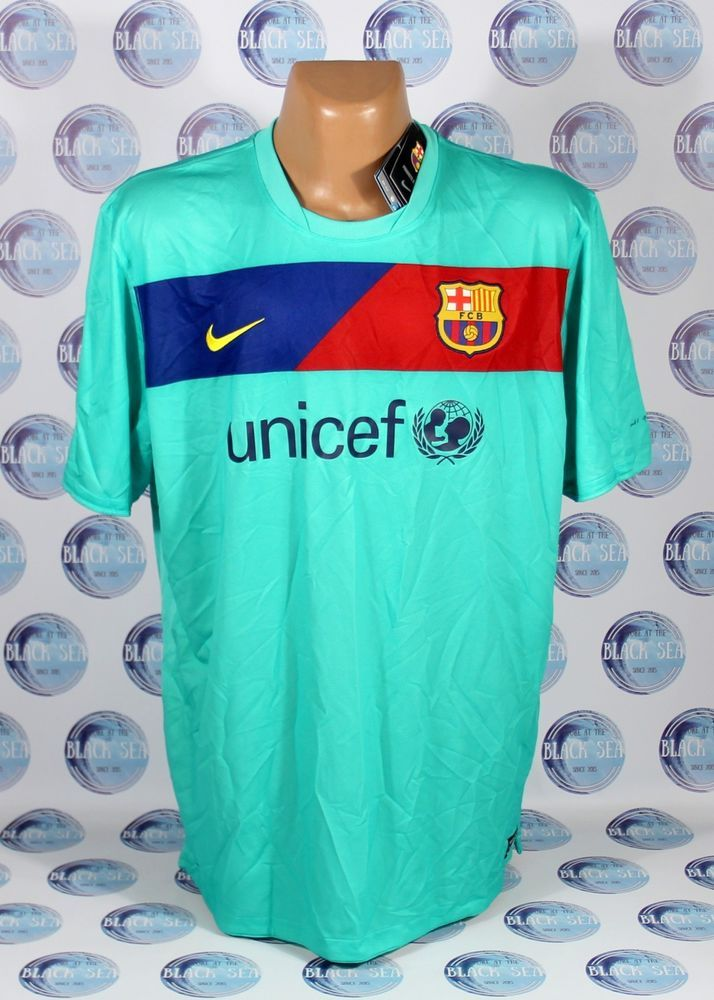 BNWT BARCELONA 2010 2011 FOOTBALL SOCCER SHIRT JERSEY CAMISETA ERA MESSI  AWAY  Nike  BARCELONA e8370baa3