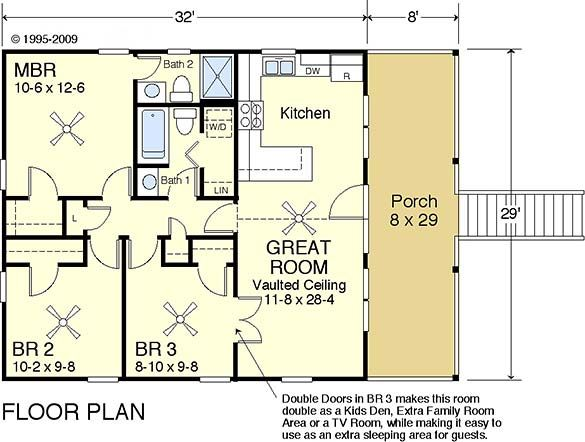 Cute beach house floor plan dream home pinterest for Coastal beach house plans