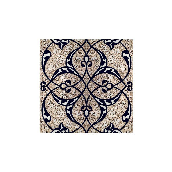 Seljuk Hand Decorated Quartz Tile, 12th century - Iznik Tiles and Ceramics