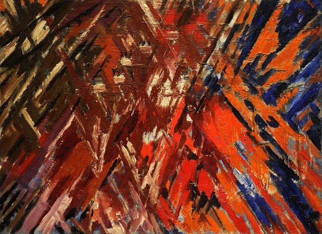 Mikhail Larionov - Rayonist Composition - Domination of Red. 1912-13 (dated on…