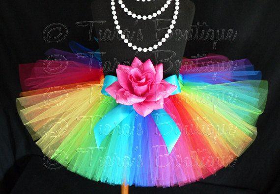 Rainbow Tutu Skirt for Girls Babies Toddlers  NEW by TiarasTutus, $20.00