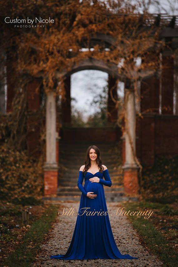 5261633d6f0 Darah Royal Blue Maternity Dress