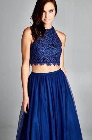 falda larga azul outfits 5ac79bab56c4