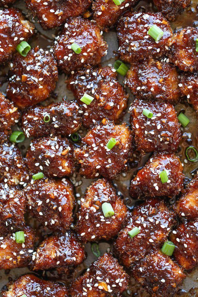 Sticky garlic chicken bites recipe baked chicken nuggets sticky garlic chicken bites recipe baked chicken nuggets chicken nuggets and garlic chicken forumfinder Images