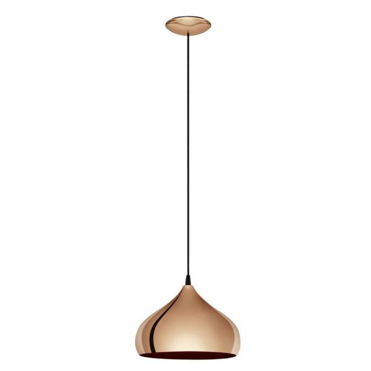 Bestel de Koperen retro hanglamp Ancone op Lampgigant.nl ✓ Snel gratis bezorgd ✓ Grootste collectie in NL & BE!