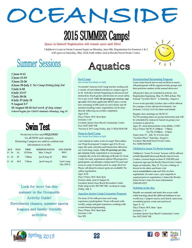 Aquatic Camps Swimming program, Surf camp, Kids learning